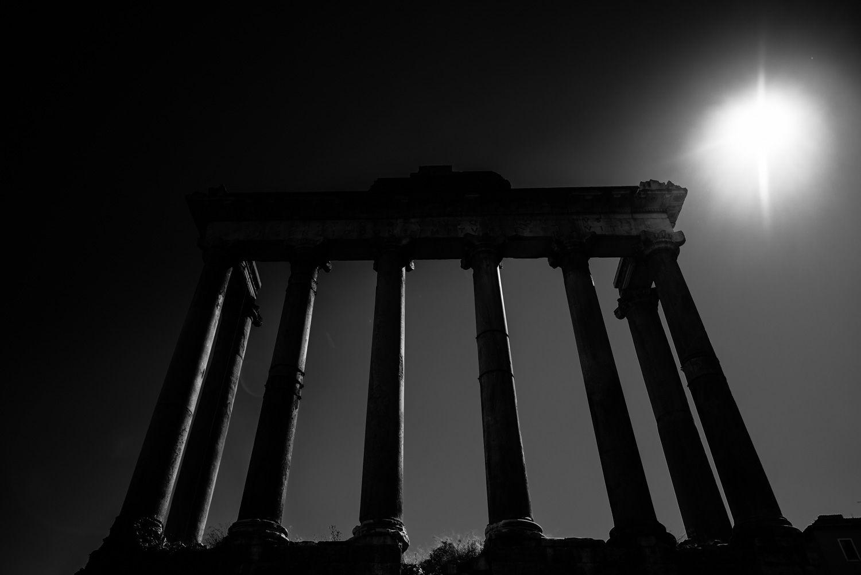 Zuilen in het Forum Romanum in Rome
