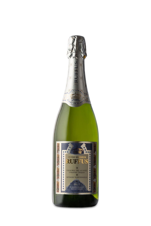 Packshot van champagne