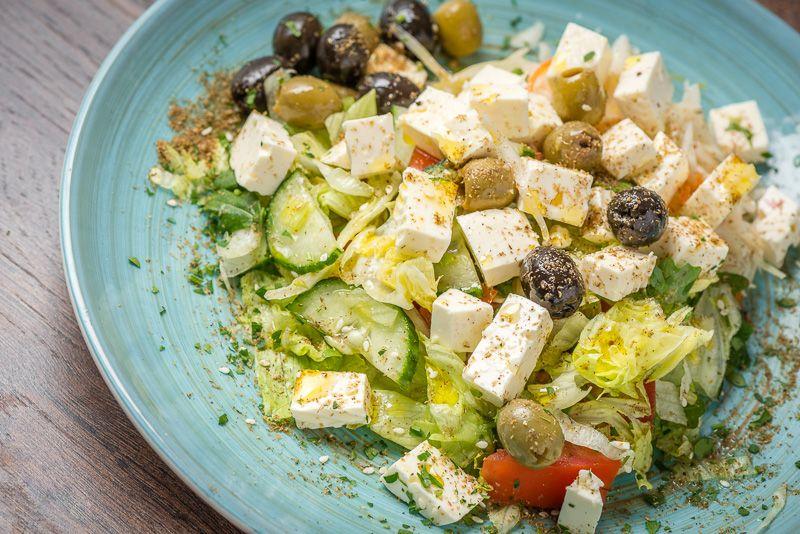Salade van feta kaas