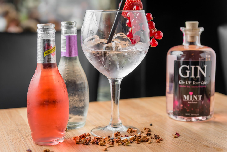Gin Mint met tonic en ijs