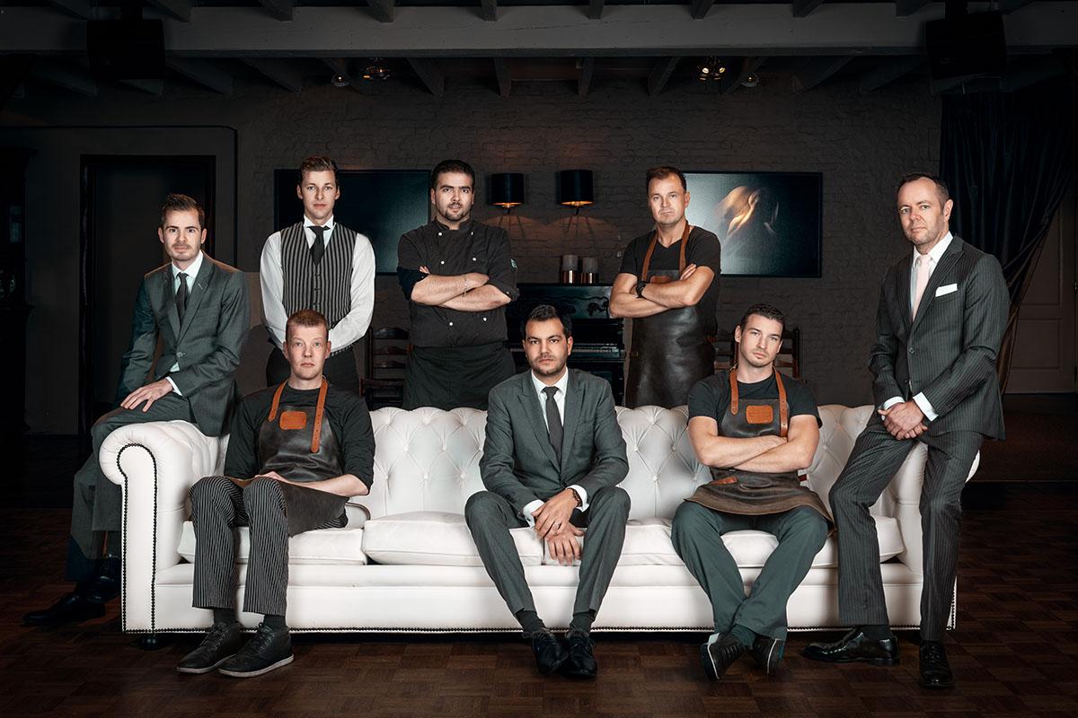 Groepsfoto van het personeel van Martinushoeve