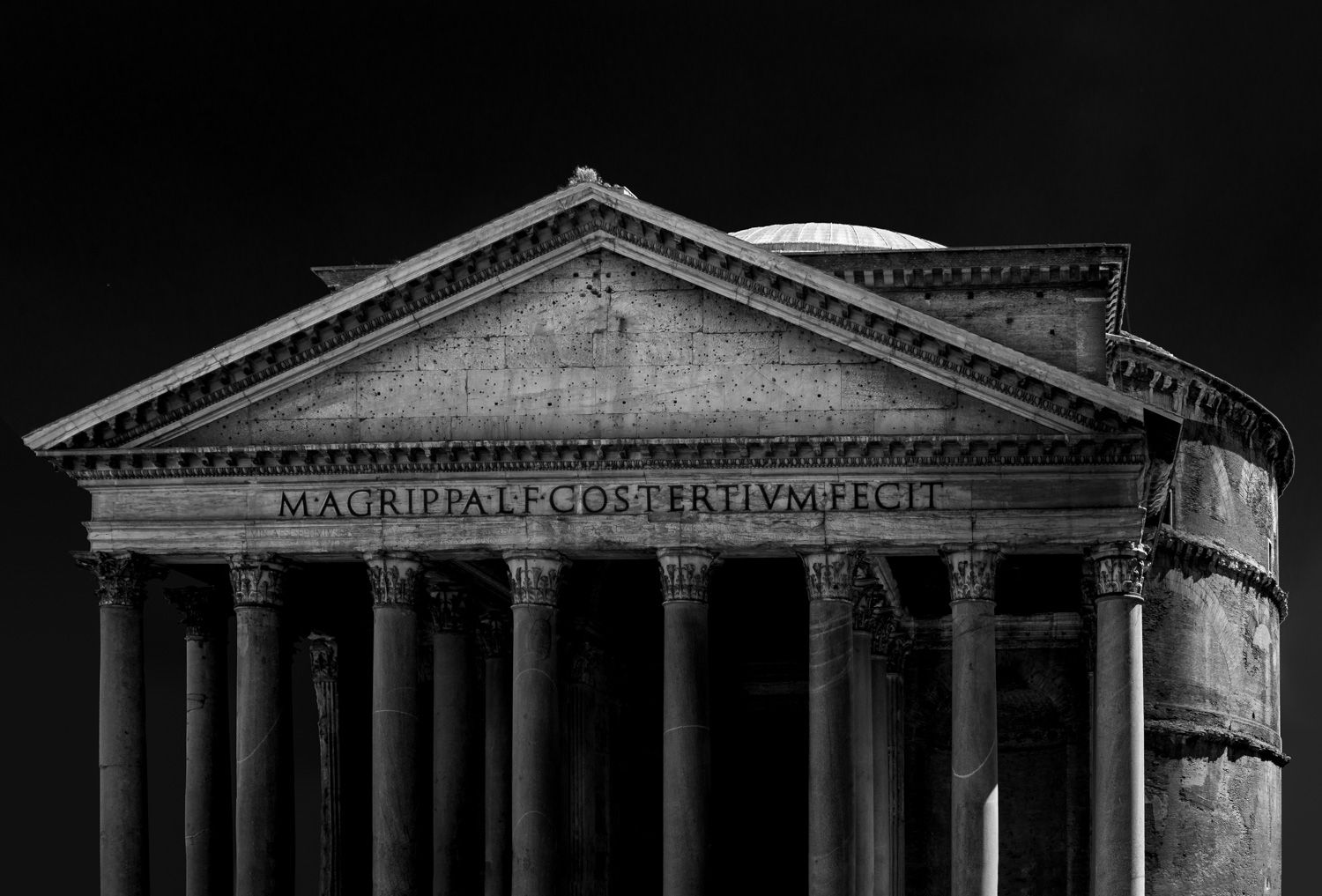 Pantheon in zwart wit