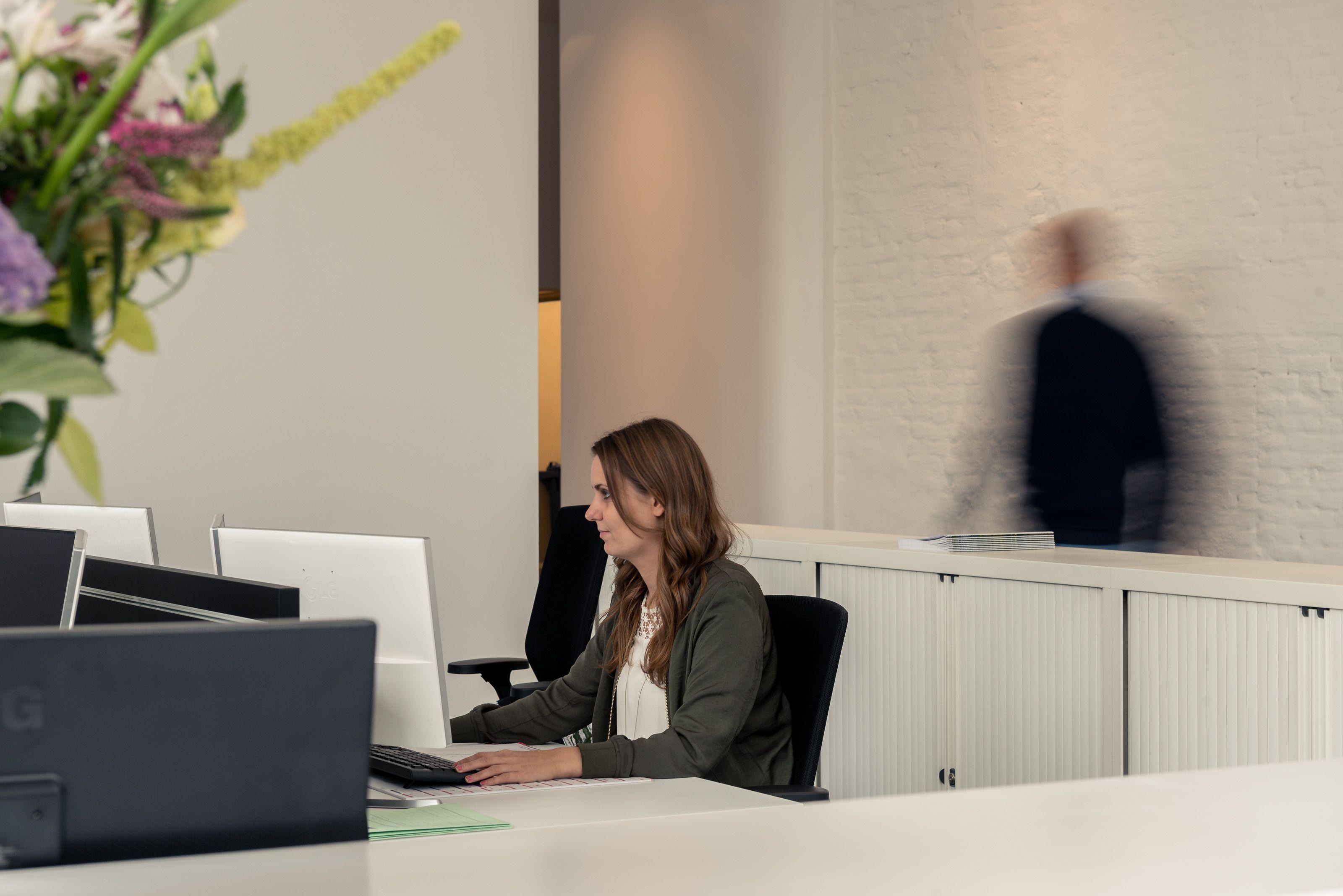 Werken in een kantoor omgeving